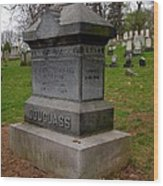 Frederick Douglass Grave Two Wood Print by Joshua House