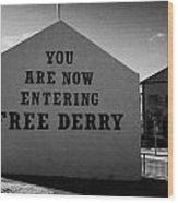 Free Derry Corner Northern Ireland Wood Print