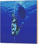 Free-diving Training Wood Print