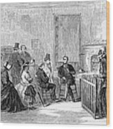 Freedmens Bureau, 1867 Wood Print