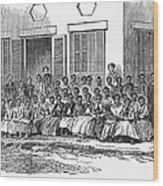 Freedmens School, 1868 Wood Print by Granger