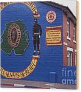 Freedom Corner Mural Belfast Northern Ireland Wood Print