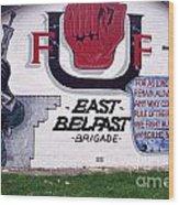 Freedom Corner Mural Belfast Wood Print