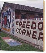 Freedom Corner Mural Wood Print
