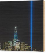 Freedom Tower And Tribute In Light Wood Print