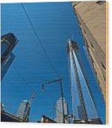 Freedom Tower In Progress Wood Print