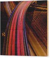 Freeway Lights 1 Wood Print