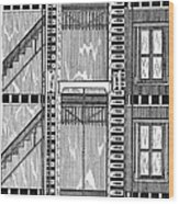 Freight Elevator, 1876 Wood Print