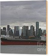 Freighter In Port Wood Print