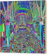Fremont Street Experience Nevada Wood Print