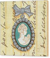 French Cameo 1 Wood Print
