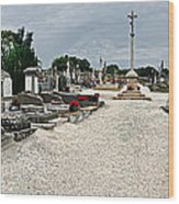 French Cemetery  Wood Print