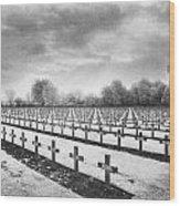 French Cemetery Wood Print by Simon Marsden