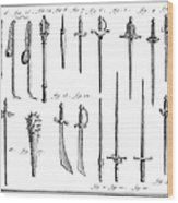 French Chivalric Weapons Wood Print by Granger
