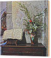 French Church Decorations Wood Print
