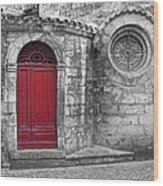 French Church Exterior Wood Print