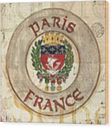 French Coat of Arms Wood Print