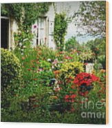 French Cottage Garden Wood Print