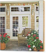 French Doors And Patio Wood Print by Andersen Ross