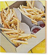 French Fries In Box Wood Print
