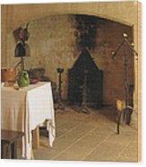 French Kitchen In Castelnaud Wood Print