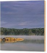 French Lake, Quetico Provincial Park Wood Print