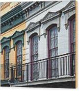French Quarter Balconies Wood Print
