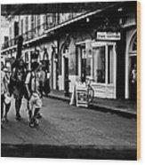 French Quarter Commute Wood Print