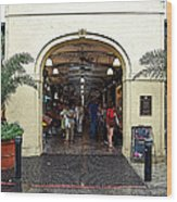 French Quarter French Market Entrance New Orleans Poster Edges Digital Art Wood Print