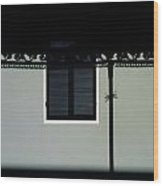 French Quarter Shutter And Shadows Wood Print