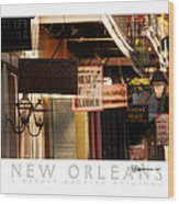 French Quarter Signs Wood Print