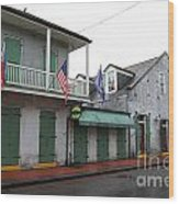 French Quarter Tavern Architecture New Orleans Wood Print