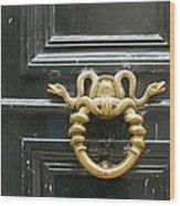 French Snake Doorknocker Wood Print