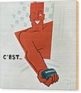 French Soap Advertisement Wood Print