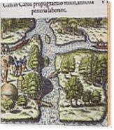 French: Sth. Carolina, 1562 Wood Print