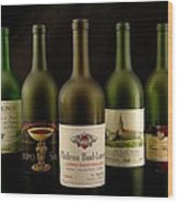 French Wine Labels Wood Print