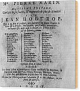 French/dutch Dictionary Wood Print