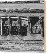 Freret Street Mailboxes - Black And White -nola Wood Print