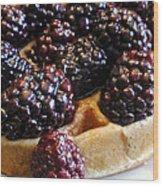 Fresh Blackberry Waffles Wood Print