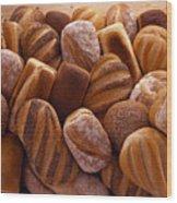 Fresh Bread Loaves Wood Print