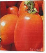 Fresh Cherry Tomatoes Wood Print