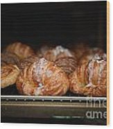 Fresh Croissants Paris Wood Print