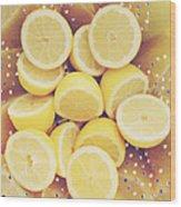Fresh Lemons Wood Print by Amy Tyler