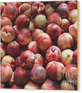 Fresh Nectarines - 5d17813 Wood Print