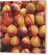 Fresh Nectarines - 5d17815 Wood Print