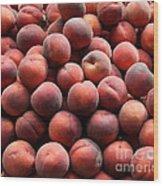 Fresh Peaches - 5d17816 Wood Print