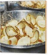 Fresh Potato Chips Wood Print