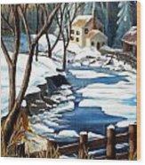 Fresh Snow In Virginia Wood Print