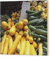 Fresh Zucchinis And Artichokes - 5d17817 Wood Print