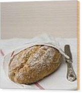 Freshly Baked Whole Grain Bread Wood Print